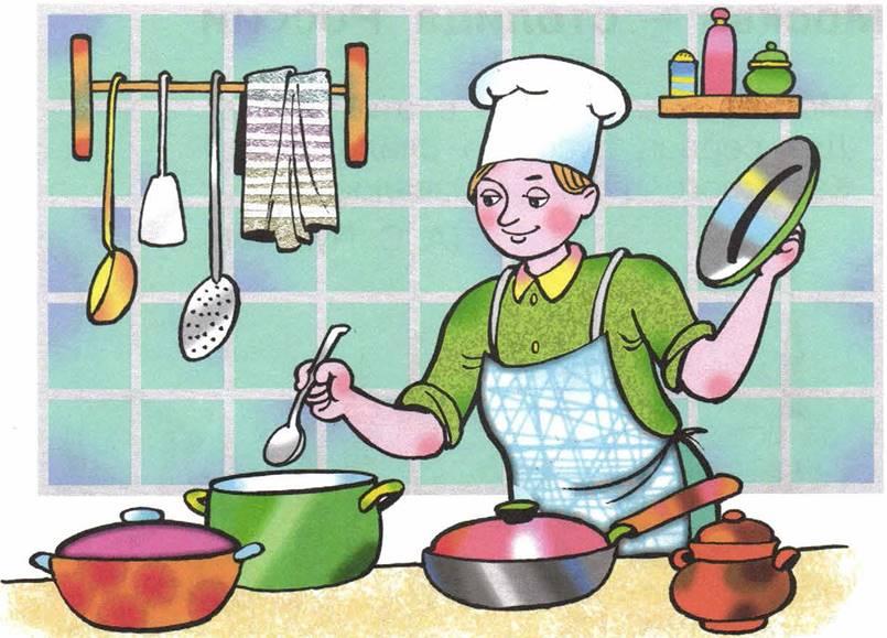 если взять сюжетная картинка повар готовит обед итальянское